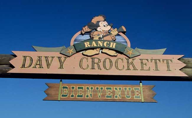 Welcome sign, Disneys Davy Crockett Ranch