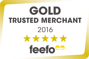 Feefo Gold Trusted Merchant 2015 Accreditation